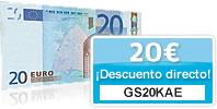 20 EUR descuento directo