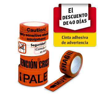 Cintas adhesivas de advertencia
