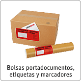 Bolsas portadocmentos, etiquetas y marcadores