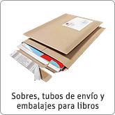 Sobres, tubos de envío y embalajes para libros