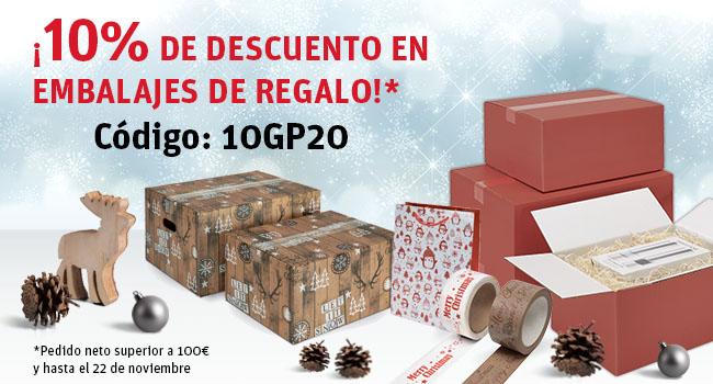 ¡Ahorre un 10% en embalajes de regalo!