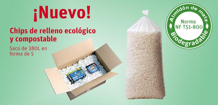 Chips de relleno ecológico  y compostable