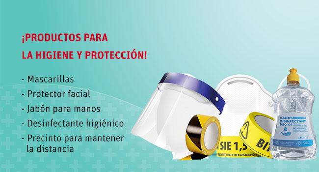 Productos de higiene y protección